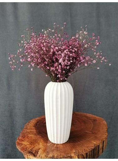 Kuru Çiçek Deposu Kuru Çiçek Şoklanmış Cipso Mavi 45 Cm Mor